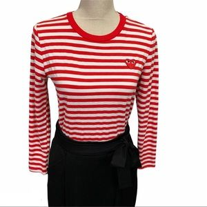 Commes de Garçons Striped Long Sleeve Top